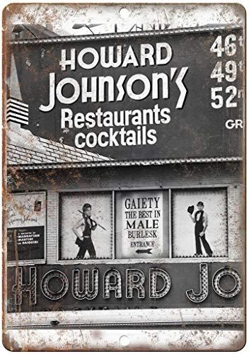 Howard Johnson's Restaurants Cocktails Blechschilder Metall Poster Warnschild Retro Schilder Blech Blechschild Wanddekoration Malerei Bar Cafe Küche Garten