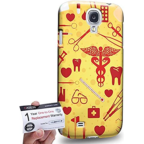 Case88 [Samsung Galaxy S4] 3D impresa Carcasa/Funda dura para & Tarjeta de garantía - Nurse theme syringes medic medicare DSE0315