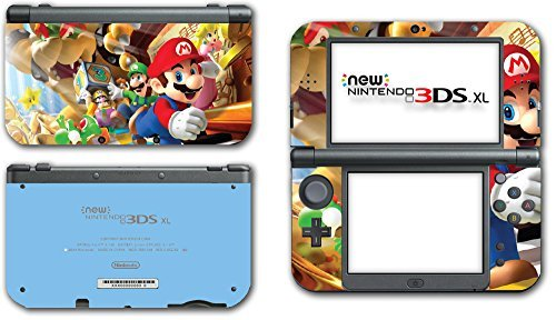 Island New Ds Yoshis (Super Mario Party Island Tour Wario Luigi Yoshi Bowser 10 Peach Video Game Vinyl Decal Skin Sticker Cover for the New Nintendo 3DS XL LL 2015 System Console by Vinyl Skin Designs)