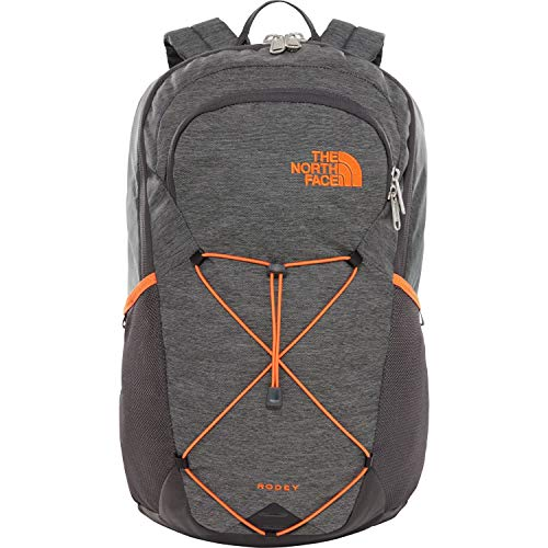 THE NORTH FACE Rodey Rucksack, TNF Dark Grey Heather/Persian Orange, One Size - The North Face-wander Rucksack