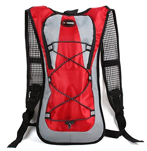 Sacchetto di sport zaino bicicletta zaino da trekking alpinismo viaggio–�?L, verde rosso