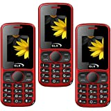 GLX W5, Basic Feature Mobile Phone, Combo Of 2 (Red)