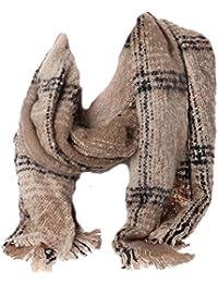 XXL Schal Winter Herbst Oversized Karo Wolle