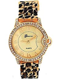 Ladies Childrens Kids Girls LEOPARD Party Smart Watch Rose Gold Adult - Perfect for Spare High Quality Cheap Birthday Party Gift Present Wedding Anniversary - UK Seller