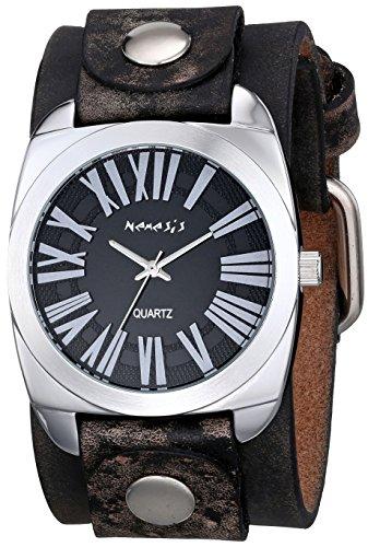Nemesis 098FBNK - Reloj de pulsera hombre, piel, color Marrón