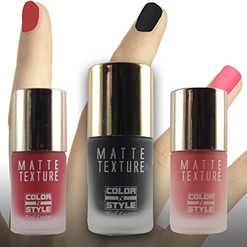COLOR N STYLE MATTE TEXTURE BLACK,RED & PINK