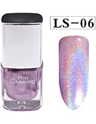 Prettyuk 8 Couleur Vernis à ongles Holo Holographic Glitter Vernis à ongles Shimmer Nail Art