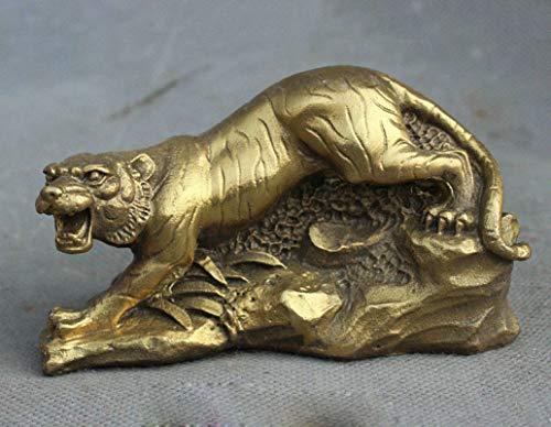 DOGOGO Messing Tiger Statue Amulett Tierskulptur Figuren Handarbeit Kupfer Home Decor Desktop Ornaments Figuren, Keine Angabe, Einheitsgröße (Aztec Lampe)