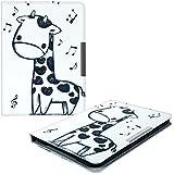 kwmobile Hülle für Tolino Vision 1 / 2 / 3 / 4 HD - Flipcover Case eReader Schutzhülle - Bookstyle Klapphülle Giraffe Comic Design Schwarz Weiß