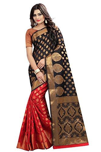 Silk Zone Women's Silk Saree With Blouse Piece (Banarasi 12_1_Red)