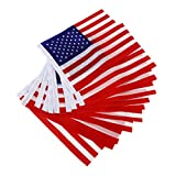 Sharplace 2 x 12pcs American USA Uns Hand Waving Flag Mini-Banner mit Kunststoffstangen