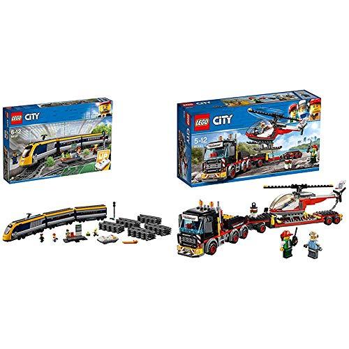 Lego City Treno Passeggeri, 60197 & City Trasportatore Carichi Pesanti, 60183