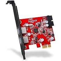 Inateck Expresskarte 2 USB3.0 extern Ports und 1 20Pin USB3.0 intern Controller mit Low Profile, Keine Stromanbindung mehr erforderlich, Versorgung über den PCI-E Einschub