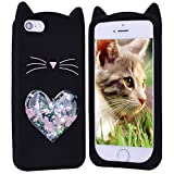 HopMore Chat Coque pour iPhone 6S Plus/iPhone 6 Plus Silicone Souple Motif 3D...