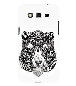FUSON Tiger Head Silhouette 3D Hard Polycarbonate Designer Back Case Cover for Samsung Galaxy A8 (2015) :: Samsung Galaxy A8 Duos (2015) :: Samsung Galaxy A8 A800F A800Y