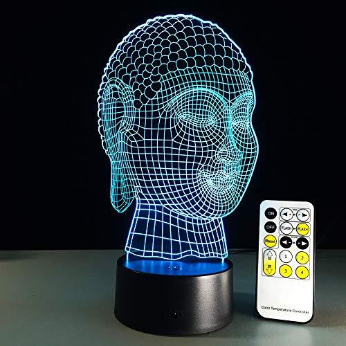 Led 3D Lampe Buddha Bild Led Lampe Usb Nachtlicht Touch Fernbedienung 7 Farben Ändern Room Decor Kinder Geschenk