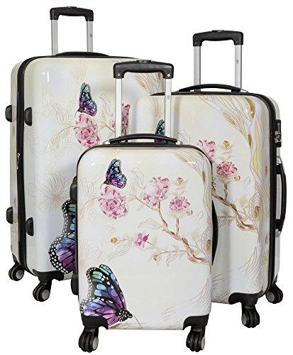 Hartschalenkoffer Reisekoffer Kofferset verschiedene Motive London, Butterfly (Schmetterling), Havanna