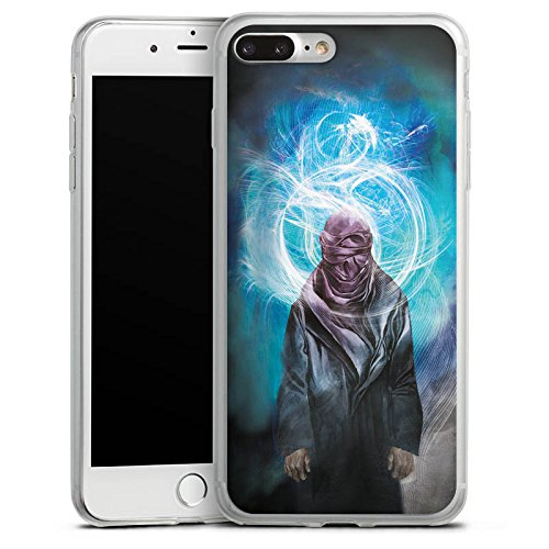 Apple iPhone 8 Slim Case Silikon Hülle Schutzhülle esoterik licht mann Silikon Slim Case transparent