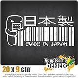 Made in Japan Domo 20 x 9 cm IN 15 FARBEN - Neon + Chrom! Sticker Aufkleber