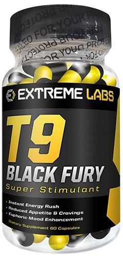 Extreme Labs - T9 Black Fury - Starke Fettverbrenner Ohne Epedrin / Ephedra