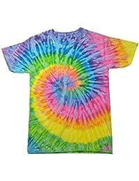b7828e0e8dd3b5 Colortone Femme Rainbow Tie Dye Top à Manches Courtes T-Shirt