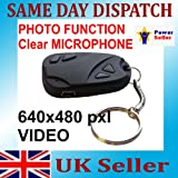 Lutall Car Keys Micro camera, 2 in 1(Video recording and Photographs), Support TF Card, Image format: 720*480