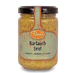 Bärlauch Senf 1 x 140 ml   pikant   körnig   scharf   Reute Mühle