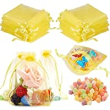 BESLIME Borse in Organza con Coulisse 100pcs Coulisse Sacchetti Regalo, Organza Sacchetti Regalo, Sacchetti Nozze Favore, Organza Borse Gioielli Sacchetto (13×18cm)