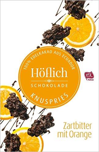 Knuspries in Faltschachtel von Höflich Schokolade (2er Pack Zartbitter mit Orange)