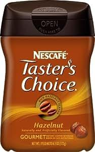 Nescafe Tasters Choice, Hazelnut, 6.1-Ounce Canisters (Pack of 3)