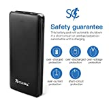 Power Bank 20000mAh 3 USB, Coolreall Compact Portable Charger Ultra High Capacity External Rechargeable Battery Power Pack for iPhone, iPad, Samsung Edge, Nexus, HTC and tablets (Black)