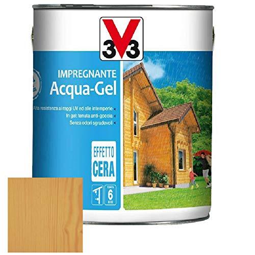 Impregnante protettivo completo legno acqua-gel antigoccia v33 - varie colorazioni (5 lt, noce chiaro)