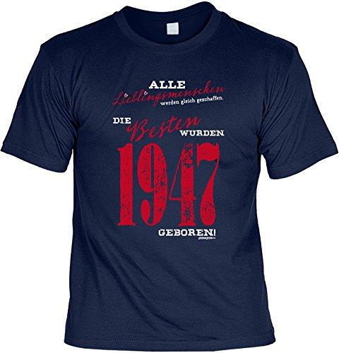 T-Shirt zum Geburtstag: Alle Lieblingsmenschen werden gleich geschaffen. Die Besten wurden 1947.. Tolle Geschenkidee - Baujahr 1947 - Farbe: navyblau Navyblau