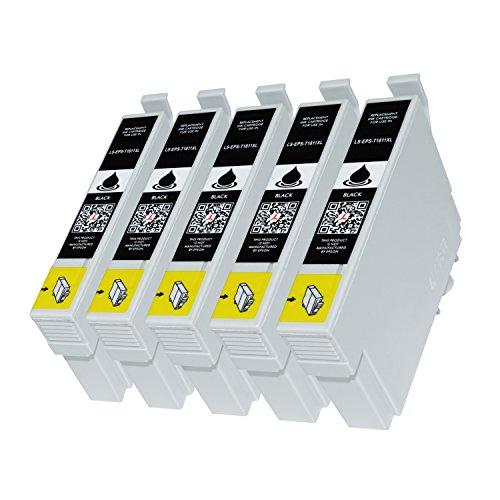 5 Premium Druckerpatronen kompatibel für Epson T1811 für Expression Home XP-102 XP-202 XP-205 XP-30 XP-302 XP-305 XP-402 XP-405