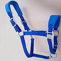 Breastplate Myyxt Equestrian Horses Leather Cuero Ajustable Espesamiento PP Cinta Productos Aleación Hebilla, Blue