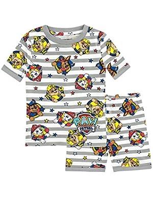 Paw Patrol Pijamas de manga corta para Niños La Patrulla Canina Ajuste Ceñido