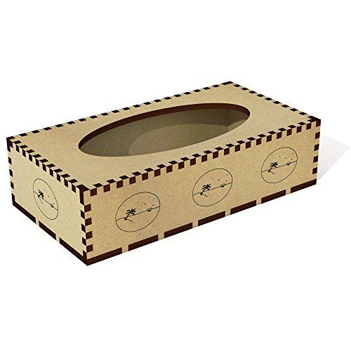 Azeeda Lange 'Strand-Szene' Tissue Box Cover aus Holz (TB00014088) (Strand Cover Box Tissue)