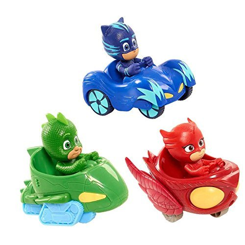 PJ Masken Spielzeug Autos 3 Stücke und Figuren Beliebte Cartoon Figur Spielzeug - PJ Masks Toys Cars 3 Pcs and Figures Popular Cartoon Figure ()