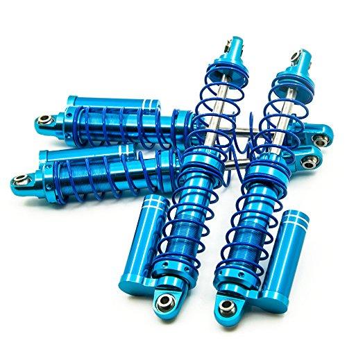 ZuoLan 4pcs Ferroutage 120mm Bleu Aluminium Ressorts Amortisseur Shock Absorber pour RC Rock Crawlers Voitures CC01 D90 SCX10