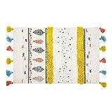 Fransenmatte Türmatte, Ethnische Stil Bodenmatte Dekoration, Geeignet Für Wohnzimmer Schlafzimmer Fenster, Aus Baumwolle Material, Größe 60 * 90Cm