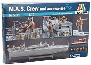 Italeri 5611S M.A.S. Crew and accesories - Maqueta de barco con tripulacin y accesorios (escala 1:35) importado de Alemania