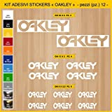 Aufkleber stickers OAKLEY - KIT 2-12 PCS - moto decal bike-Motorrad- Cod. 0754 (010 BIANCO)