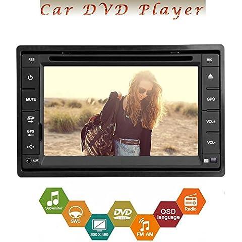 Radio Bluetooth Receptor de audio vídeo Autoradio Monitor de unidad principal 2 DIN en el tablero de coches reproductor de DVD USB SD estéreo logotipo de la pantalla táctil del coche VCD CD