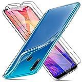 MICASE Funda para Xiaomi Redmi Note 7 + 2 X Protectores de Pantalla in Cristal Templado, Carcasa Silicona Transparente Protector Suave TPU Ultra Fino Anti-Rasguño Anti-Golpes Case Caso