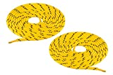 Chris Sol, Lacets ronds pour Chaussures de sécurité et Chaussures de marche. - Jaune - jaune/noir, 120 cm