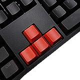 Feicuan DIY Accessory Gaming Keyboard Blank PBT WASD Keycaps OEM Height für Mechanische Tastatur -Red