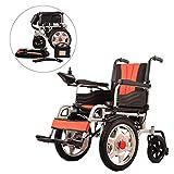 JL-Q Elektrische Rollstuhlfahrer Elderly Behinderte Carbon-Stahl Rahmen Leichtgewicht klappen 16-Zoll-großen Vorderrad Elektro-Rollstuhl älteren Roller