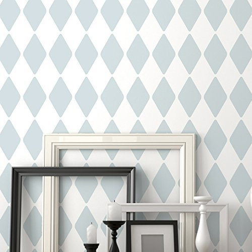 harlequin-wall-stencil-by-stencilit-expedited-3-days-delivery-geometric-wall-accent-reusable-templat