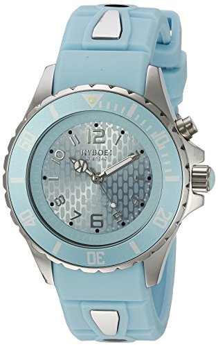 KYBOE! 'Power' Quartz Stainless Steel and Silicone Casual Watch, Color:Blue (Model: KY.40-043.15)