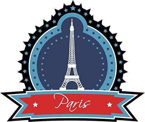 1 x Aufkleber Paris Sterne Sticker Stadt City Fun Gag Decal Static Club Liebe - Le Paris Club